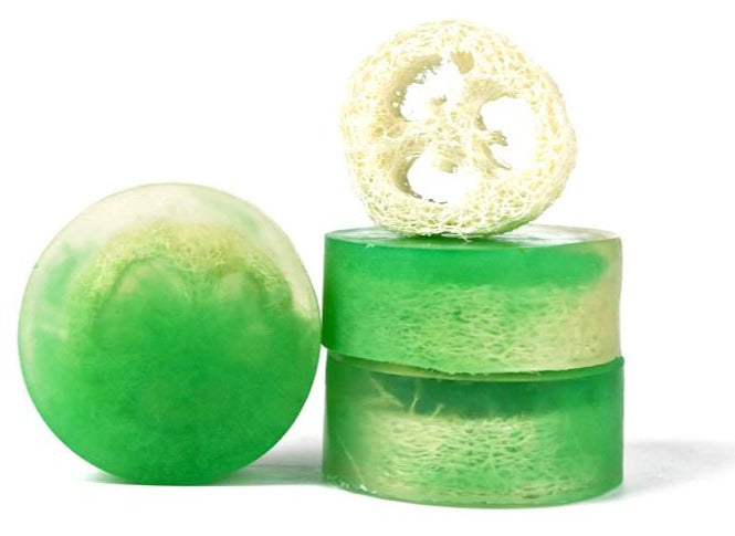 Mojito (Mint & Lime) Loofah Soap - Pack of 3