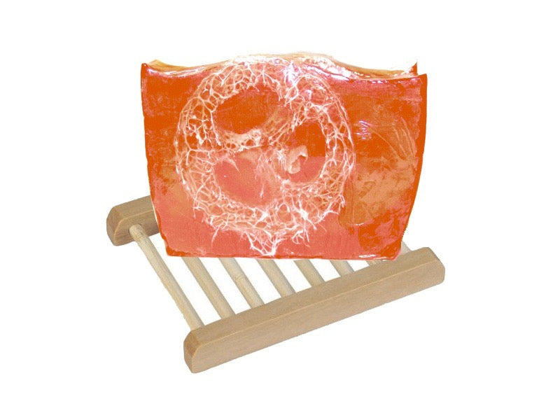 Grapefruit Lily Loofah Soap + Soap Dish Set - SoapyMania