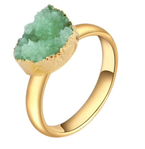 Aquamarine Druzy Gemstone Ring Bath Bomb