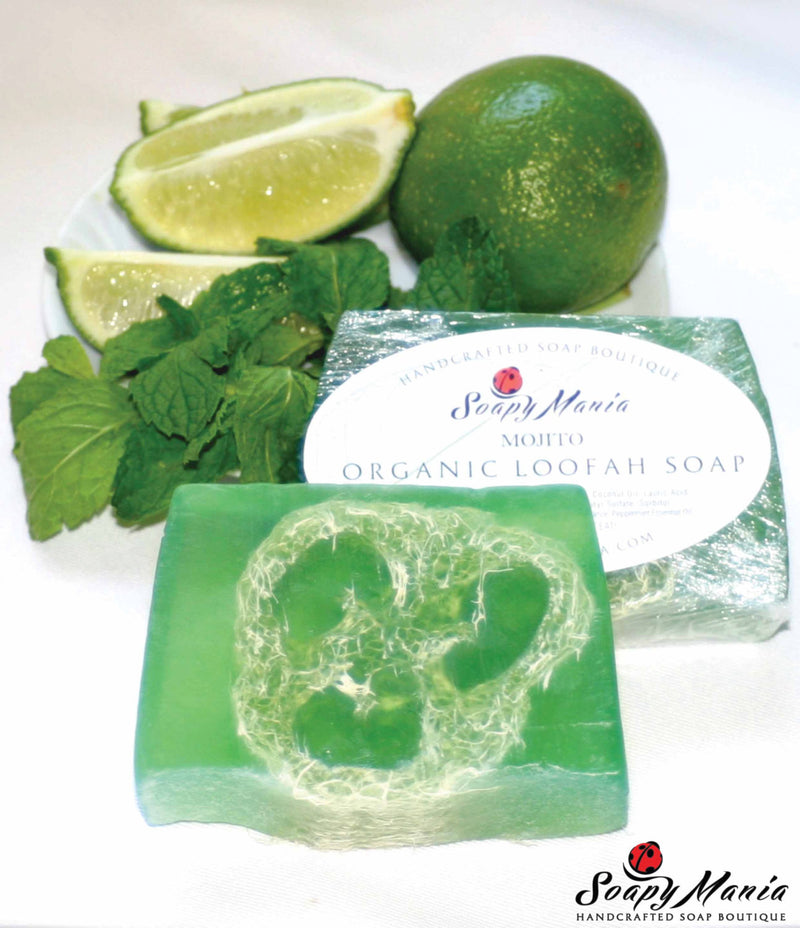 Mojito (Mint & Lime) Loofah Soap - SoapyMania