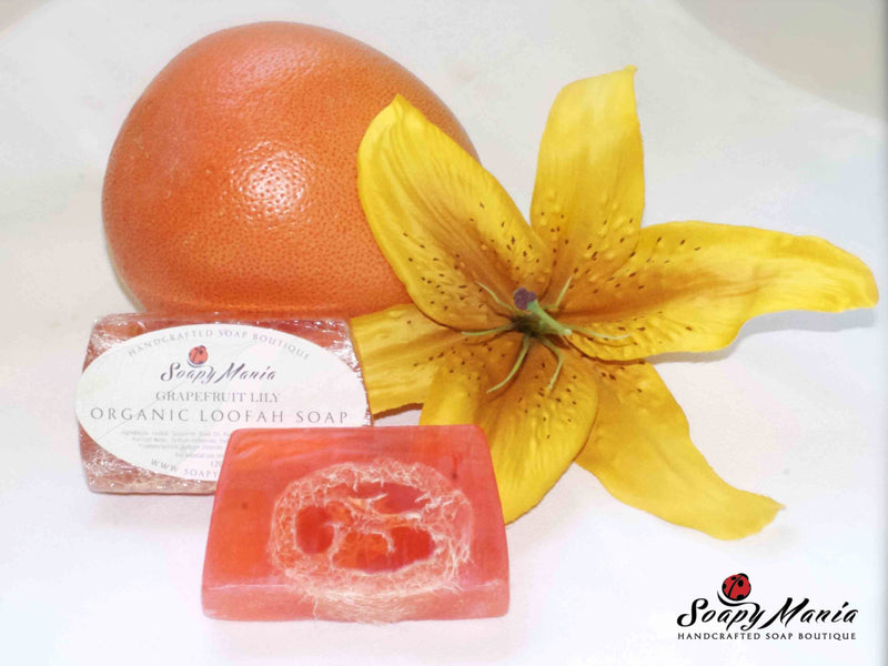 Grapefruit Lily Loofah Soap - SoapyMania