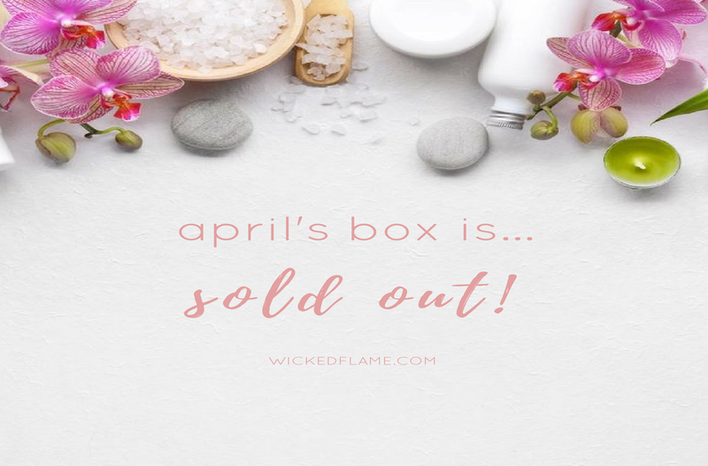 Sold Out: April's Sakura Candle Subscription + Spa Box