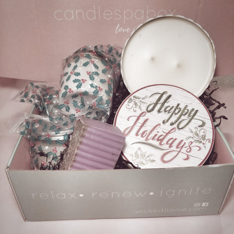 candle + spa subscription box by wicked flame