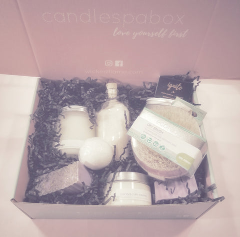 transform monthly candle + spa box
