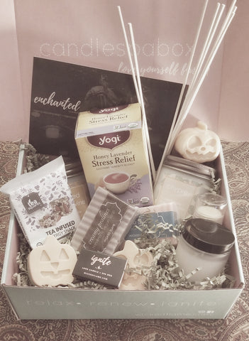 enchanted candle subscription + spa box | monthly subscription boxes by wicked flame