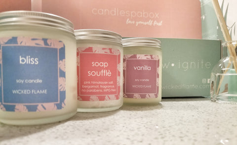 bliss box - april candle + spa subscription box