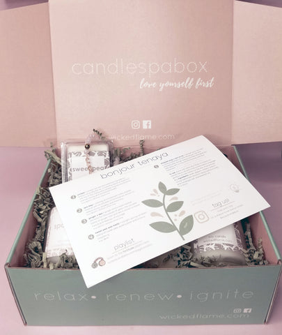 fortitude candle subscription + spa box by wicked flame