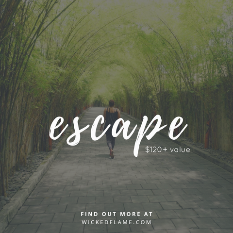Escape! July Candle Subscription Box and Spa Box Theme
