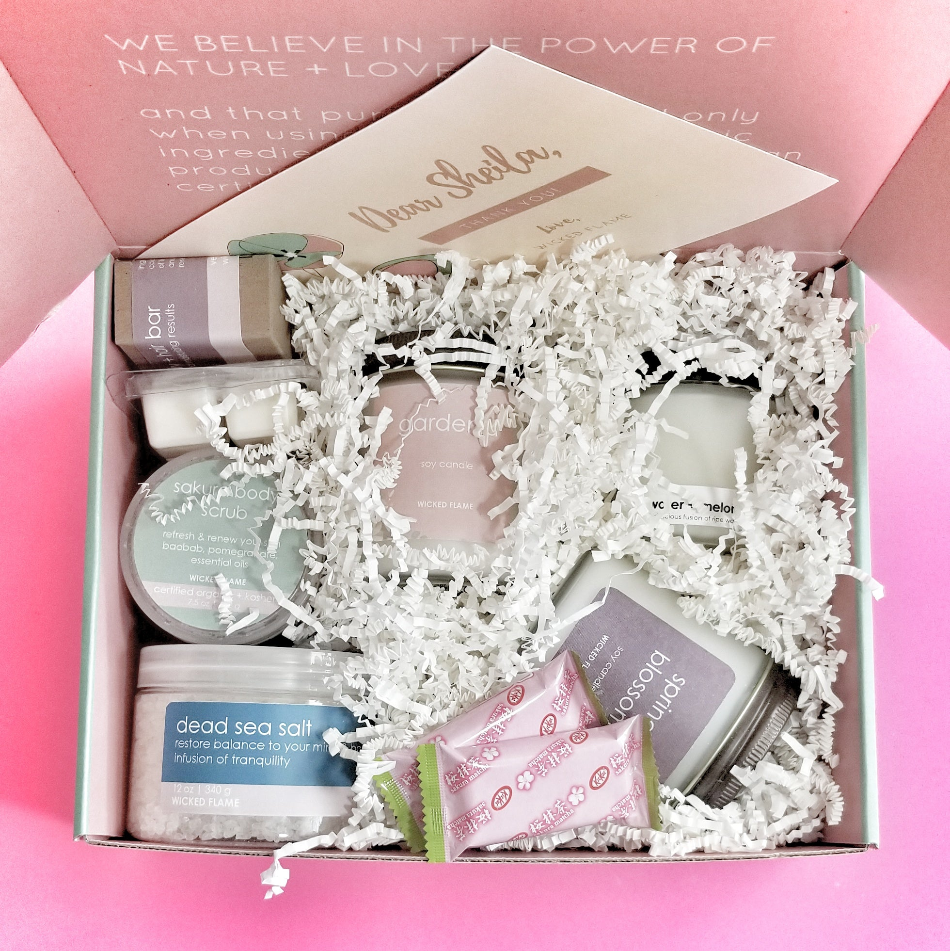candle subscription box + spa subscription box by wicked flame