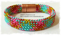 "20-Strand ""Flat"" Bracelet      (click for 7 color ways)"
