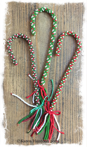 ***Kumihimo Beaded Candy Canes Kit - Makes 3 Candy Canes