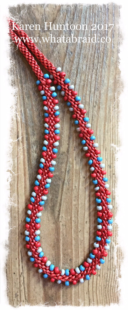 Three Color Edge Bead Necklace Kit-Rust