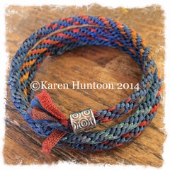 "*Karen's Kumihimo ""Ribbon & Satin"" Corkscrew Bracelet (click for all colors)"