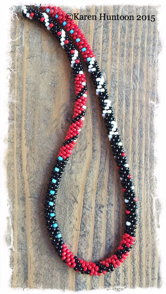 Painting with Beads Kumihimo Necklace Kit - Red White & Black