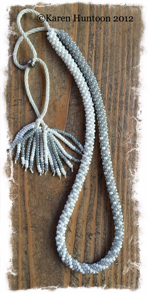 Blended Beaded Necklace Kits with Adjustable Closure 8/0
