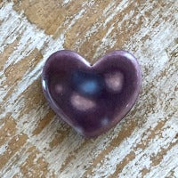 Porcelain Heart Bead - Purple
