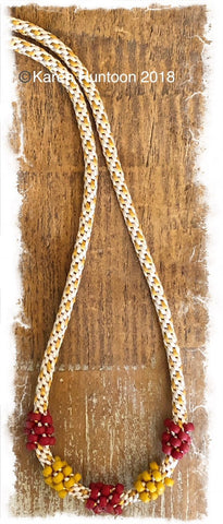 ****Cluster Bead Necklace Kit - Camel & Tan