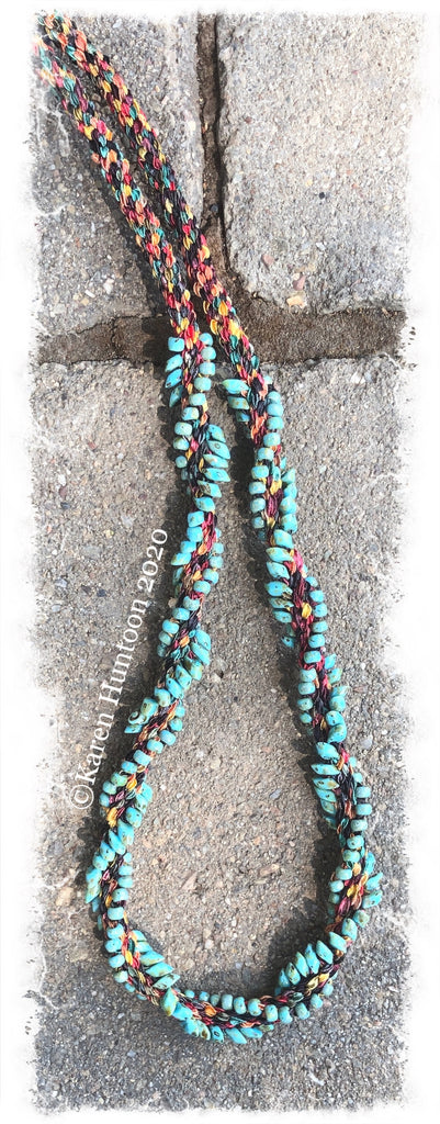 *********Jubilee Ribbon Magatama Swirl Necklace Kit - Harvest & Picasso Turquoise