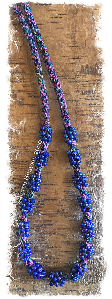 Jubilee Ribbon Cluster Bead Necklace Kit - Magical & Cobalt Luster