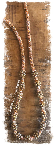 *********Jubilee Ribbon Cluster Bead Necklace Kit - Canyon & Picasso Brown