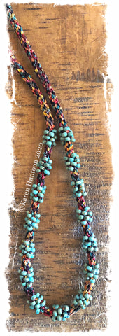 *********Jubilee Ribbon Cluster Bead Necklace Kit - Harvest & Picasso Turquoise
