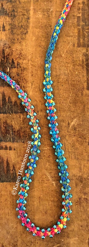 *****Kusari Tsunagi Jubilee Ribbon Edge Bead Necklace Kit - Carnival