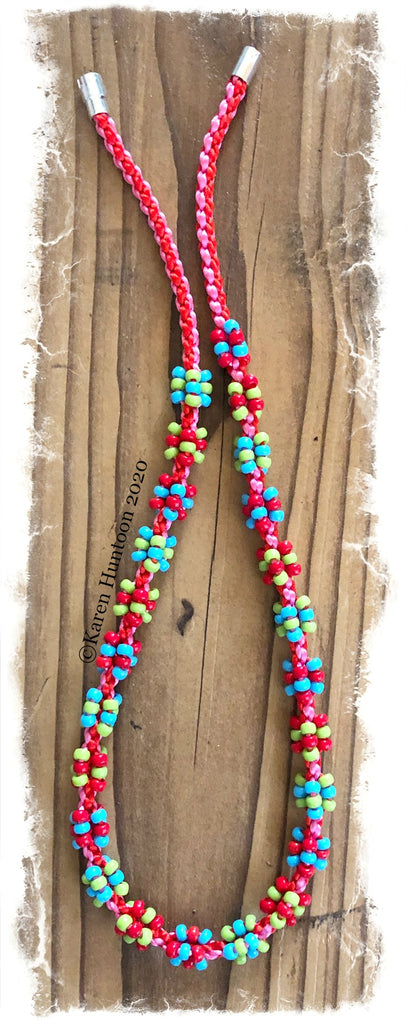 ******Kusari Tsunagi Cluster Bead Necklace Kit - Brights - MARUDAI only
