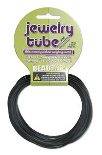 Beadsmith Jewelry Tube - 2mm - Black