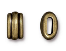 Barrel Beads, Deco, Antique Antique Brass, 6x2mm
