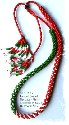 Holiday 8/0 3-Color Blended Beaded Necklace Kits