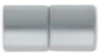 "Magnetic Clasp ""Acrylic Straight Barrel"" -8mm Hole, Matte Silver"