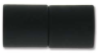 "Magnetic Clasp ""Acrylic Straight Barrel"" - 8mm Hole, Matte Black"