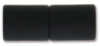 "Magnetic Clasp ""Acrylic Straight Barrel"" - 6mm Hole, Matte Black"