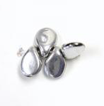 Pip Beads - Silver
