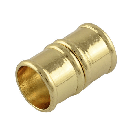 "10mm Gold Colored ""Bamboo"" Magnetic Glue-in End Clasp"