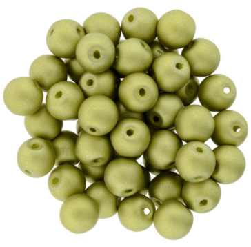 Bauble Beads, 6mm Top Drilled - Chartreuse