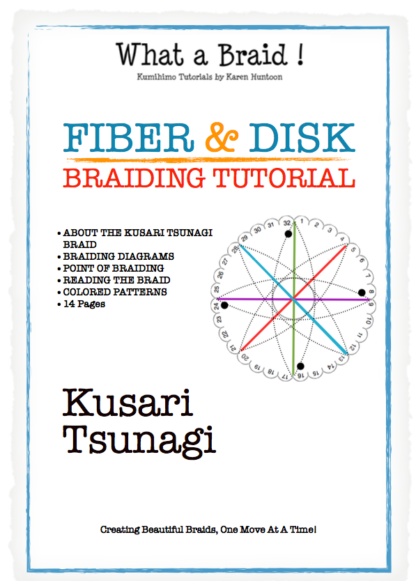 Instant Download Tutorial - Kusari Tsunagi Braid Structure - 14 pages - Tutorial for Fiber & Disk