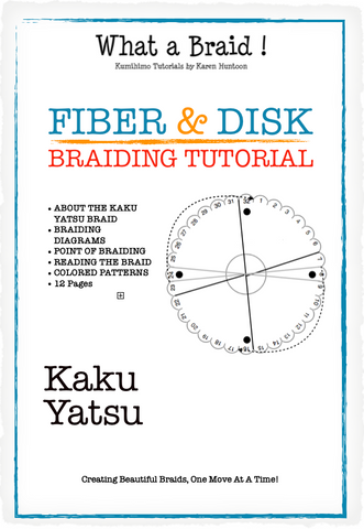 Instant Download Tutorial - Kaku Yatsu Braid Structure - 12 pages - Tutorial for Fiber & Disk