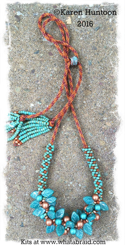 *****Beaded Kumihimo Bauble & Leaf Necklace Kit - Southwest