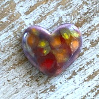 Porcelain Heart Bead - Sunset