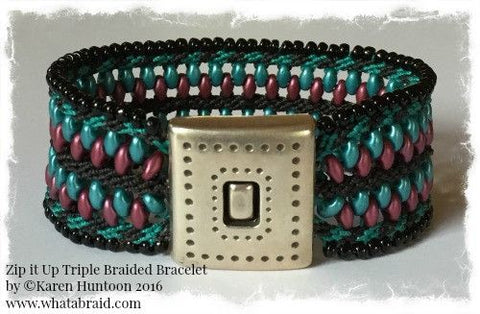 ***Zip it Up© Triple Braided Bracelet