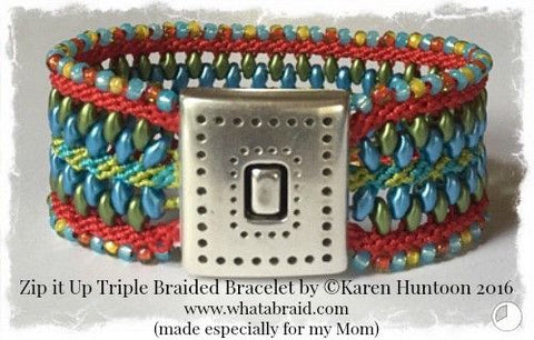 ****Zip it Up© Triple Braided Bracelet
