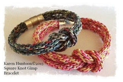 Square Knot Bracelet - Kumihimo Rayon Gimp (Click for all Colors)