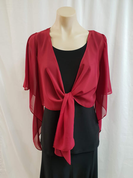 Yesadress Cropped Chiffon Jacket