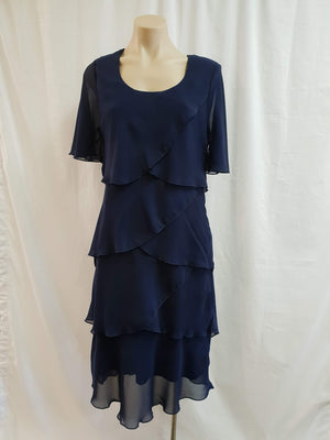 Vivid Navy Layered Dress - Fashion Focus