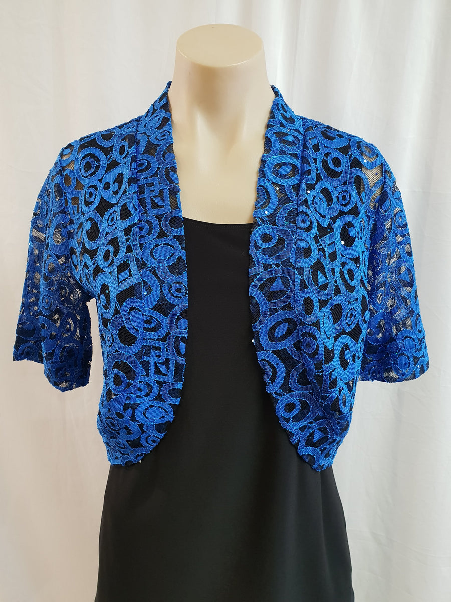 Yesadress Cobalt/Black Lace Jacket
