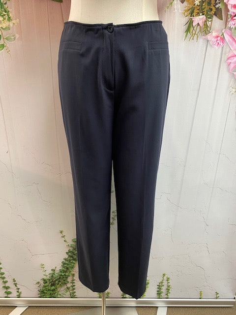 Newport Button Pant NP0001-1 Navy - Fashion Focus