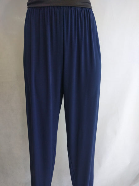 JK Navy Narrow Leg Drapey Pants