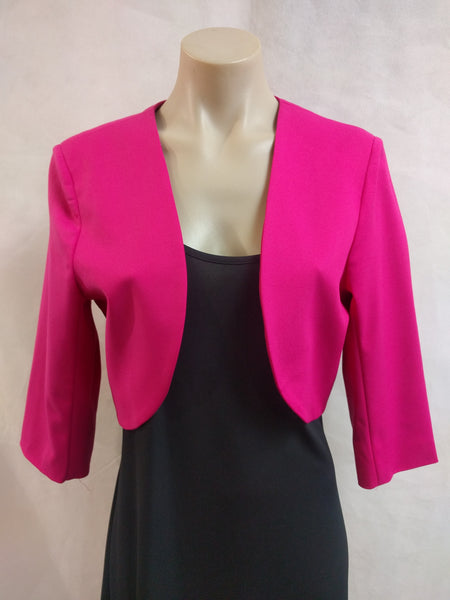 Studio S Fuschia Cropped Jacket