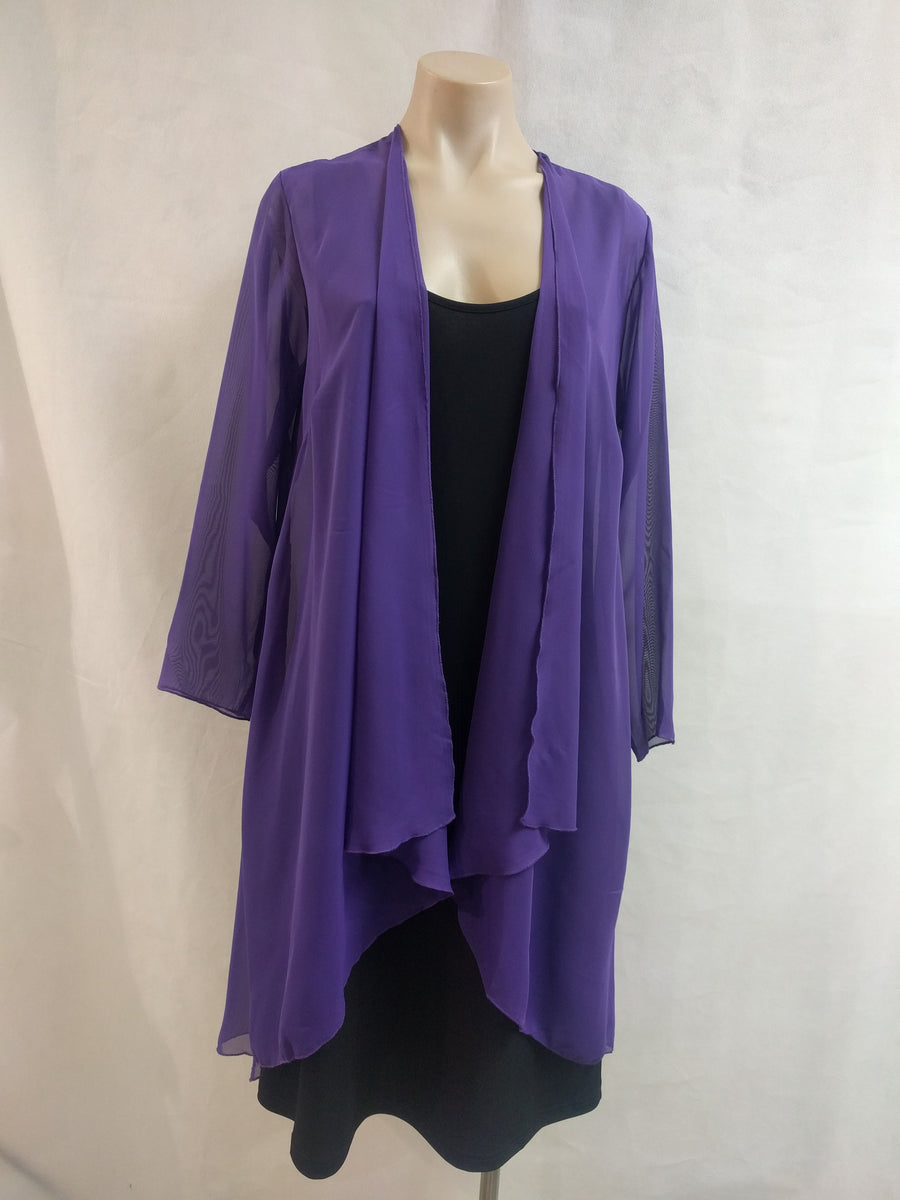 LS Chiffon Longline Jacket - Fashion Focus